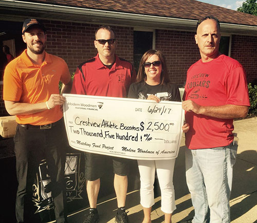 Modern Woodmen fundraiser generates $6,500 for Crestview athletics