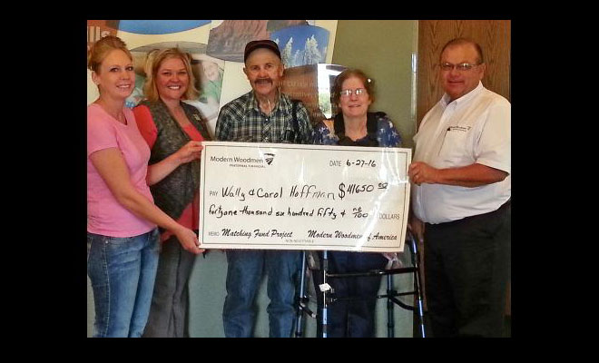 Modern Woodmen Fundraiser For Wally and Carol Hoffman a Success