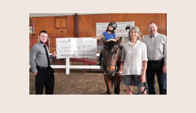 Riding To The Top receives $2,000 match from Modern Woodmen