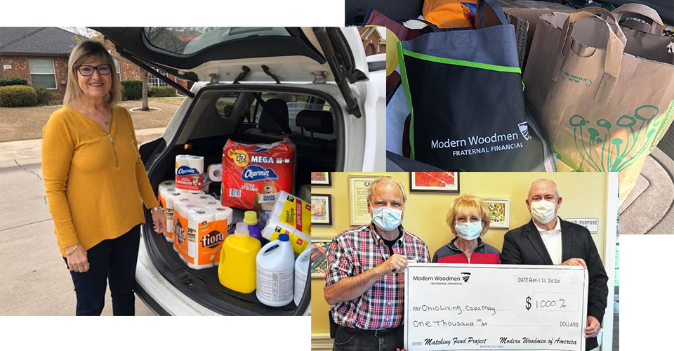 Modern Woodmen members making an impact in their communities during the COVID-19 pandemic.