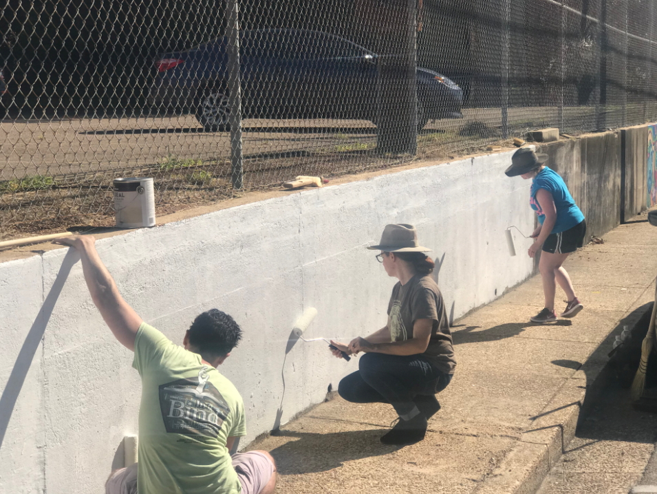 HWS students to paint mural