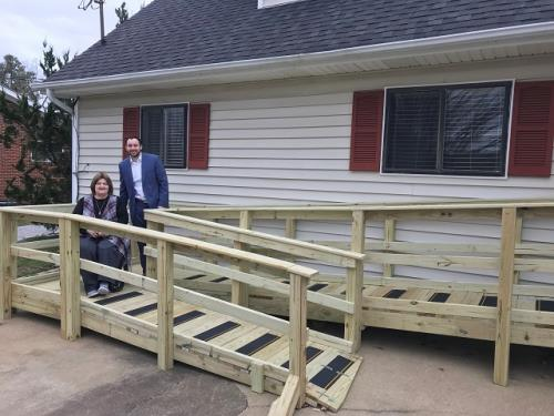Modern Woodmen of America volunteers build wheelchair ramp for Roswell resident