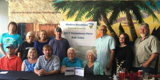 Sides named as Modern Woodmen of America's 2017 Hometown Hero